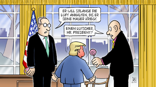Cartoon: Luft anhalten (medium) by Harm Bengen tagged luft,anhalten,kind,president,trump,oval,office,migration,mauer,mexiko,harm,bengen,cartoon,karikatur,luft,anhalten,kind,president,trump,oval,office,migration,mauer,mexiko,harm,bengen,cartoon,karikatur