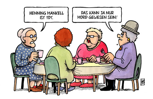 Cartoon: Mankell (medium) by Harm Bengen tagged karikatur,cartoon,bengen,harm,literatur,krebs,schweden,autor,krimi,mord,tod,tot,mankell,henning,henning,mankell,tot,tod,mord,krimi,autor,schweden,krebs,literatur,harm,bengen,cartoon,karikatur