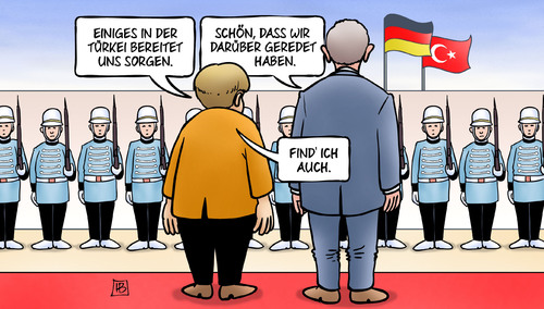 Cartoon: Merkel bei Erdogan (medium) by Harm Bengen tagged türkei,deutschland,sorgen,merkel,erdogan,autokratie,demokratie,flüchtlingsfrage,soldaten,harm,bengen,cartoon,karikatur,türkei,deutschland,sorgen,merkel,erdogan,autokratie,demokratie,flüchtlingsfrage,soldaten,harm,bengen,cartoon,karikatur