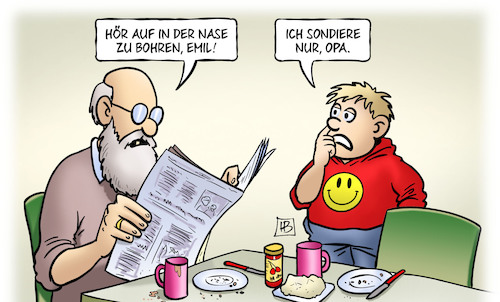 Cartoon: Nasen-Sondierung (medium) by Harm Bengen tagged nase,bohren,susemil,enkel,kind,opa,sondierungen,sondieren,groko,regierung,harm,bengen,cartoon,karikatur,nase,bohren,susemil,enkel,kind,opa,sondierungen,sondieren,groko,regierung,harm,bengen,cartoon,karikatur