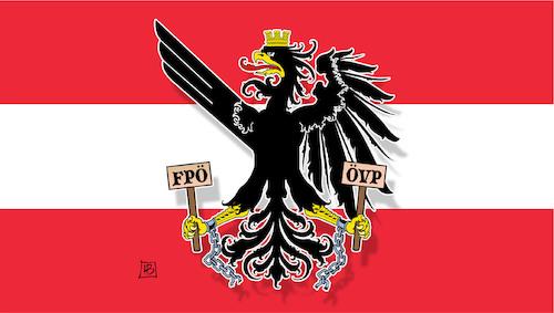 Neue österreich Fahne By Harm Bengen Politics Cartoon Toonpool
