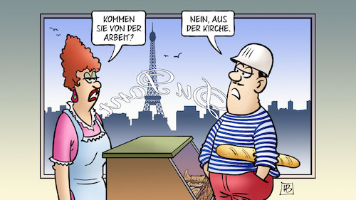 Cartoon: Notre-Dame-Messe (medium) by Harm Bengen tagged notre,dame,messe,arbeit,kirche,paris,brand,helme,bau,bäckerei,harm,bengen,cartoon,karikatur,notre,dame,messe,arbeit,kirche,paris,brand,helme,bau,bäckerei,harm,bengen,cartoon,karikatur
