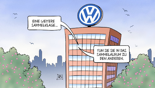 Cartoon: Sammelklage (medium) by Harm Bengen tagged sammelklage,vw,sammelalbum,gericht,prozess,dieselskandal,abgasmanipulationen,harm,bengen,cartoon,karikatur,sammelklage,vw,sammelalbum,gericht,prozess,dieselskandal,abgasmanipulationen,harm,bengen,cartoon,karikatur