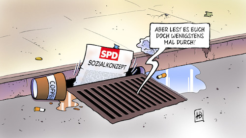 Cartoon: SPD-Sozialkonzept (medium) by Harm Bengen tagged spd,sozialkonzept,grundrente,bürgergeld,gulli,harm,bengen,cartoon,karikatur,spd,sozialkonzept,grundrente,bürgergeld,gulli,harm,bengen,cartoon,karikatur