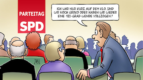 Cartoon: SPD-Wenden (medium) by Harm Bengen tagged klo,spd,parteitag,groko,koaliton,sondierung,wende,harm,bengen,cartoon,karikatur,klo,spd,parteitag,groko,koaliton,sondierung,wende,harm,bengen,cartoon,karikatur