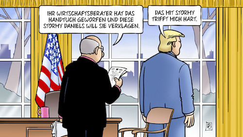 Cartoon: Trump Cohn Daniels (medium) by Harm Bengen tagged wirtschaftsberater,cohn,stormy,daniels,pornodarstellerin,stephanie,clifford,trump,oval,office,harm,bengen,cartoon,karikatur,wirtschaftsberater,cohn,stormy,daniels,pornodarstellerin,stephanie,clifford,trump,oval,office,harm,bengen,cartoon,karikatur