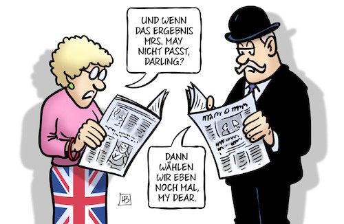 Cartoon: UK-Wahl-Ergebnis (medium) by Harm Bengen tagged uk,gb,wahl,ergebnis,may,brexit,harm,bengen,cartoon,karikatur,uk,gb,wahl,ergebnis,may,brexit,harm,bengen,cartoon,karikatur
