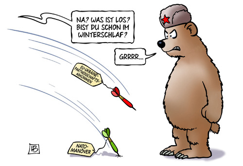Cartoon: Ukraine-Partnerschaft (medium) by Harm Bengen tagged ukraine,partnerschaft,winterschlaf,eu,russland,baer,abkommen,nato,manoever,provokation,harm,bengen,cartoon,karikatur,ukraine,partnerschaft,winterschlaf,eu,russland,baer,abkommen,nato,manoever,provokation,harm,bengen,cartoon,karikatur