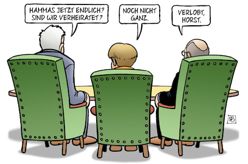 Cartoon: Verlobt (medium) by Harm Bengen tagged groko,seehofer,merkel,schulz,verheiratet,verlobt,sondierungen,harm,bengen,cartoon,karikatur,groko,seehofer,merkel,schulz,verheiratet,verlobt,sondierungen,harm,bengen,cartoon,karikatur