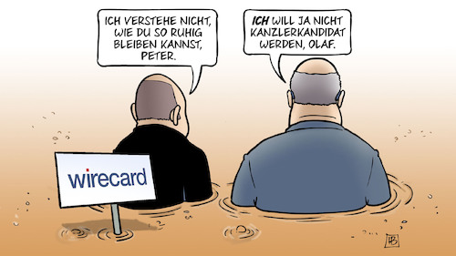 Cartoon: Wirecard-Sumpf (medium) by Harm Bengen tagged wirecard,pleite,betrug,finanzdienstleister,dax,insolvenz,sumpf,peter,altmaier,kanzlerkandidat,olaf,scholz,harm,bengen,cartoon,karikatur,wirecard,pleite,betrug,finanzdienstleister,dax,insolvenz,sumpf,peter,altmaier,kanzlerkandidat,olaf,scholz,harm,bengen,cartoon,karikatur