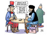 Cartoon: Afghanistan-Verhandlungen (small) by Harm Bengen tagged afghanistan,verhandlungen,usa,taliban,karsai,doha,katar,uncle,sam,poker,krieg,terror,nato,isaf,harm,bengen,cartoon,karikatur