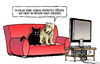 Cartoon: Burka-Verbot (small) by Harm Bengen tagged vollverschleierung,burka,verbot,terror,sicherheit,islamismus,hund,katze,tv,harm,bengen,cartoon,karikatur
