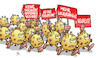 Cartoon: Corona-Demo (small) by Harm Bengen tagged lockerungen,isolation,masken,freiheit,demonstration,corona,coronavirus,ansteckung,pandemie,epidemie,krankheit,schaden,harm,bengen,cartoon,karikatur