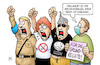Cartoon: Demo-Abstand (small) by Harm Bengen tagged demonstrationen,hygiene,nazis,impfgegner,scheibenerde,verschwörungstheoretiker,abstandsregel,grundrechte,corona,coronavirus,ansteckung,pandemie,epidemie,krankheit,schaden,harm,bengen,cartoon,karikatur