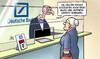 Cartoon: Dt. Bank-Schieflage (small) by Harm Bengen tagged gerüchte,deutsche,bank,schieflage,pleite,geier,susemil,harm,bengen,cartoon,karikatur