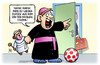 Cartoon: Familiensynode (small) by Harm Bengen tagged mama,papa,mutter,vater,teddy,kind,vatikan,katholische,kirche,kardinal,priester,zölibat,familiensynode,rom,harm,bengen,cartoon,karikatur