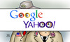 Cartoon: Google-Yahoo-NSA (small) by Harm Bengen tagged google,yahoo,email,abhören,unter,freunden,guardian,washington,post,edward,snowden,europa,usa,grossbritannien,staatschefs,obama,nsa,gchq,geheimdienst,überwachung,merkel,mobiltelefon,handy,spionage,regierung,harm,bengen,cartoon,karikatur