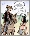 Cartoon: Indianer kennt keinen Schmerz (small) by Harm Bengen tagged indianer,cowboy,schmerz,