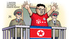 Cartoon: Kim Meister (small) by Harm Bengen tagged parteitag,pjöngjang,kim,jong,un,vorzeitig,meister,fussball,nordkorea,harm,bengen,cartoon,karikatur