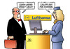 Cartoon: Kranich im Stall (small) by Harm Bengen tagged streik,lufthansa,eurowings,kunde,flughafen,stallpflicht,kraniche,vogelgrippe,h5n1,virus,harm,bengen,cartoon,karikatur