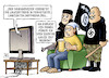 Cartoon: Linksunten-Verbot (small) by Harm Bengen tagged innenminister demaiziere verbot linksextreme internetseite linksunten indymedia tv bedrohung nazis islamisten terror harm bengen cartoon karikatur