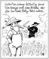 Cartoon: Tom Sawyer (small) by Harm Bengen tagged tom,sawyer,tod,death