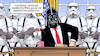 Cartoon: Trumps Bundestruppen (small) by Harm Bengen tagged trump bundestruppen usa anarchisten starwars darth vader stormtrooper harm bengen cartoon karikatur