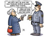 Cartoon: Tschiller (small) by Harm Bengen tagged nick,tschiller,tatort,tv,krimi,polizei,polizist,pistole,bitch,susemil,harm,bengen,cartoon,karikatur