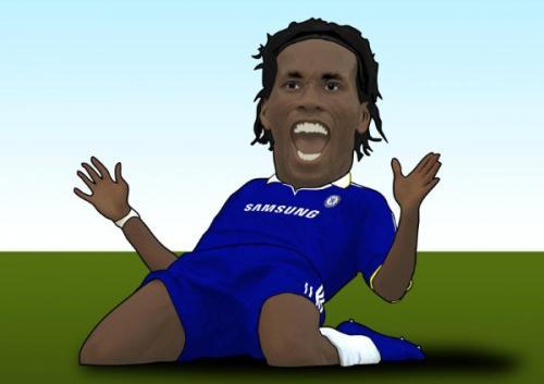 didier drogba foto. Cartoon: Didier Drogba