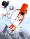 Cartoon: Coolboarder (small) by esplesst tagged snowman,christmas,holidays,winter