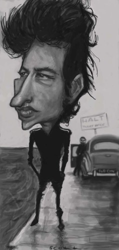 Cartoon: Dylan (medium) by jonesmac2006 tagged bob,dylan,caricature