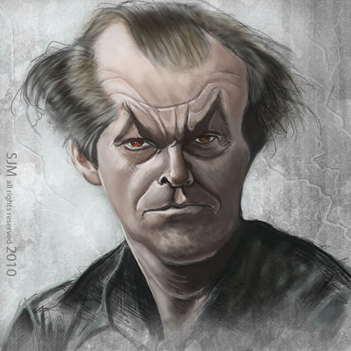 Cartoon: Jack (medium) by jonesmac2006 tagged jack,nicholson,caricature