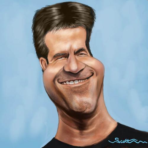 ... Cowell caricature (medium) by jonesmac2006 tagged caricature,cartoon