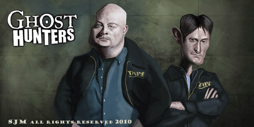Cartoon: TAPS Ghost hunters (medium) by jonesmac2006 tagged caricature