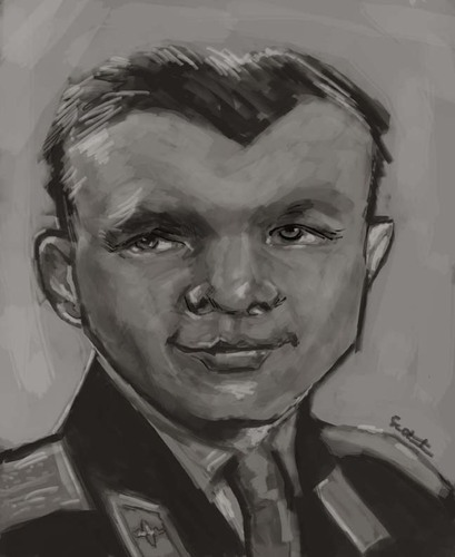 Cartoon: Uri Gagarin (medium) by jonesmac2006 tagged uri,gagarin,caricature