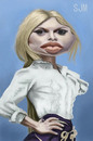 Cartoon: Bardot (small) by jonesmac2006 tagged caricature,bardot