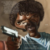 Cartoon: Jules from Pulp Fiction (small) by jonesmac2006 tagged caricature