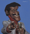 Cartoon: Sammy Davis JNR (small) by jonesmac2006 tagged caricature