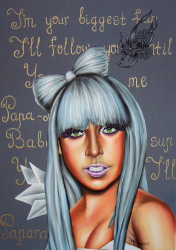 Cartoon: Lady Gaga (medium) by Sanni tagged lady,gaga