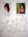 Cartoon: Amy Winehouse (small) by Sanni tagged amy winehouse