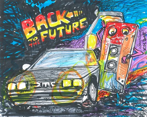 Back to the future by csamcram media amp culture cartoon toonpool