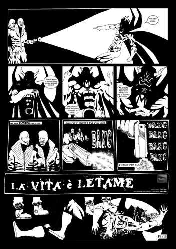 Cartoon: La Vita e Letame 2_2 (medium) by csamcram tagged heroe,super,superheroes,superheroe,supereroi,supereroe,superhelden,superheld,comics,white,black,cram,csam