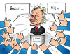 Cartoon: Das Netz feiert Julian Assange (small) by pianoman68 tagged assange,facebook,internet,like,it,gefällt,mir