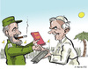 Cartoon: Papst auf Kuba (small) by pianoman68 tagged papst,benedikt,fidel,castro