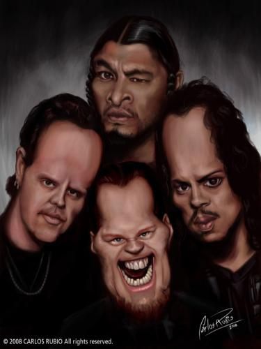 Metallica Caricature