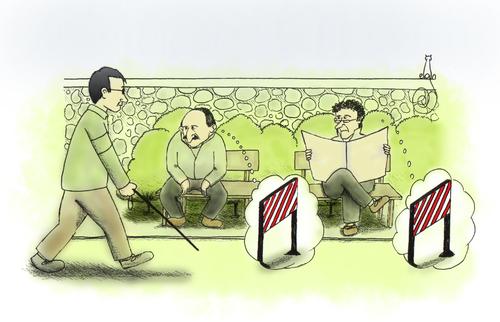 Handicaps By MelgiN   Philosophy Cartoon   TOONPOOL