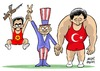 Cartoon: Referee (small) by Murat tagged usa,america,pkk,terror,turkey