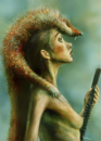Cartoon: venus in furs (small) by nootoon tagged fur,venus,pumpgun,girl,hunter,shot,nootoon,illustration,germany