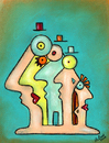 Cartoon: Gruppenzwang (small) by ninaboosart tagged menschen