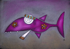 Cartoon: Highfisch (small) by ninaboosart tagged higfisch,joint,drogen,meer,hai,wasser
